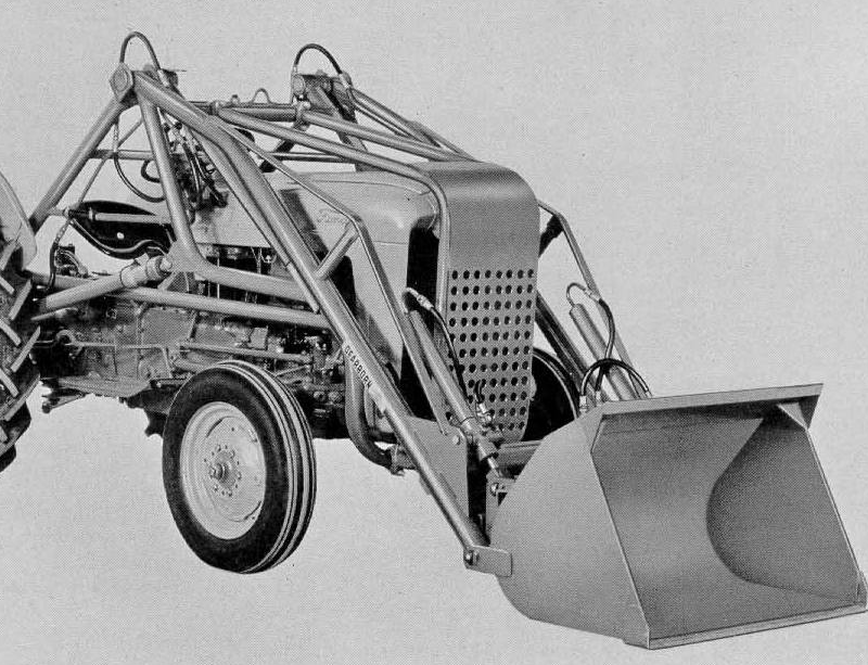 A loader for the Ford 850 from bits and pieces
